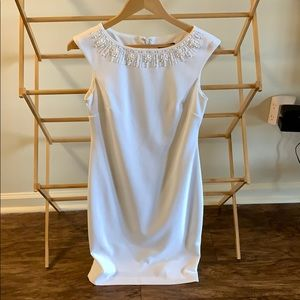 Brand New White Tahari Dress